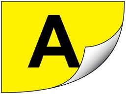 Black on yellow gloss tape (P-Touch printer range)