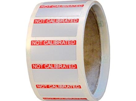 Not calibrated aluminium foil labels.