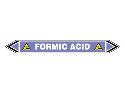 Formic acid flow marker label.