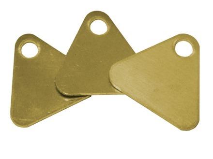 Blank Triangular Brass Tag
