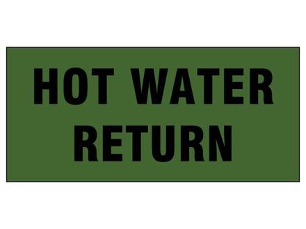 Hot water return pipeline identification tape.