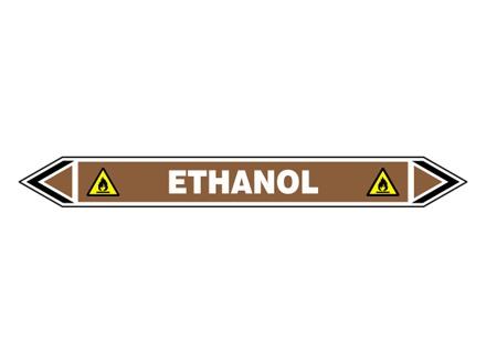 Ethanol flow marker label.