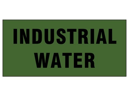 Industrial water pipeline identification tape.