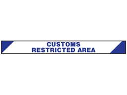Customs restricted area barrier tape