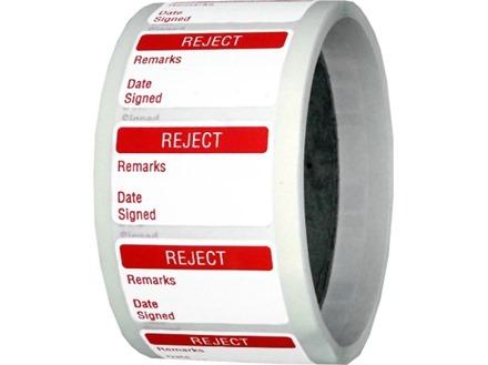 Reject Quality Assurance Label Zl1090 Label Source