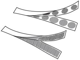 Velcro hook and loop tape.