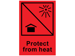 Protect from heat shipping label.