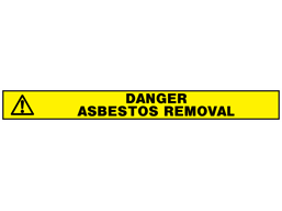 Danger, asbestos removal barrier tape
