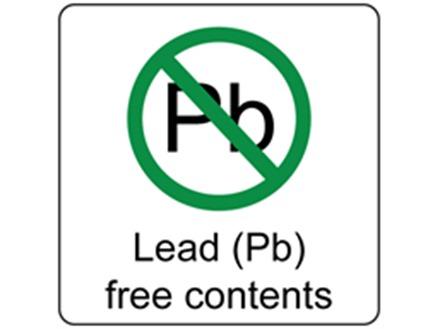 Lead (Pb) free contents label