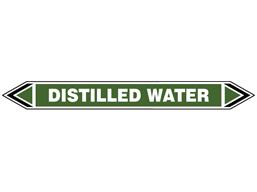 Distilled water flow marker label.