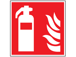 Fire extinguisher symbol safety sign.