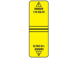 Danger 110 volts cable wrap label