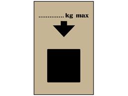 Maximum stockable weight stencil
