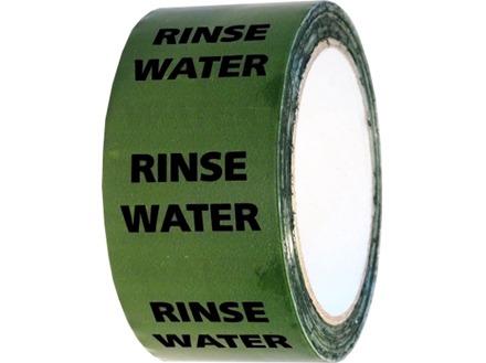 Rinse water pipeline identification tape.