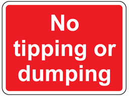 No tipping or dumping sign
