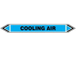 Cooling air flow marker label.