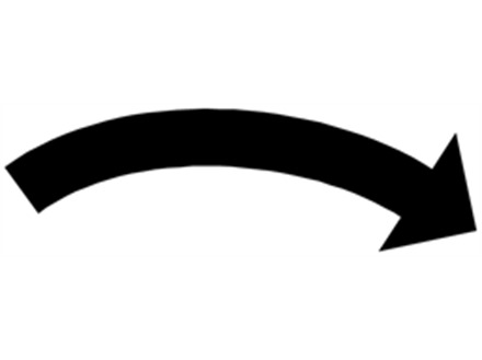 Clockwise black arrow label