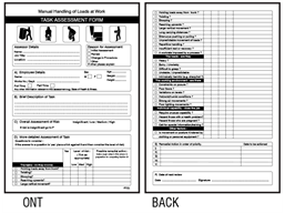 Manual Handling Task Assessment Forms