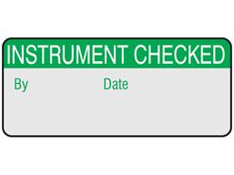 Instrument checked aluminium foil labels.