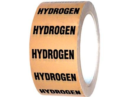 Hydrogen pipeline identification tape.