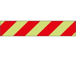 Photoluminescent fire hazard tape