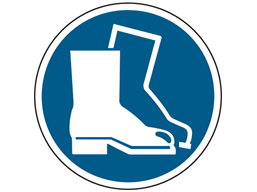 Foot protection symbol floor graphic marker.