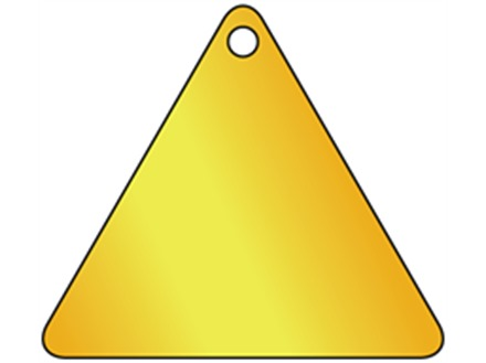 Blank Triangular Brass Tag
