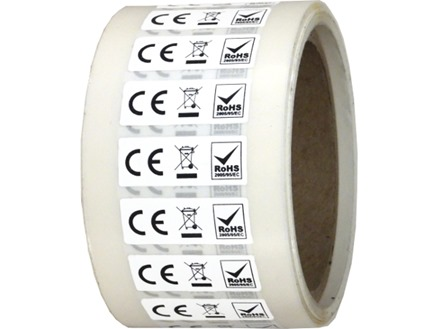 CE, WEEE and RoHS symbol labels