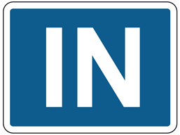 In sign
