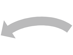 Anti-clockwise grey arrow label