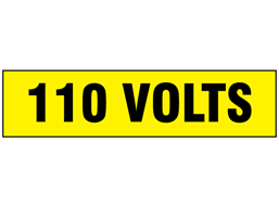 110 Volts label