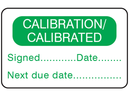 Calibration, calibrated label