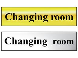 Changing room metal doorplate
