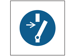 Disconnect before carrying out maintenance or repair symbol safety sign.