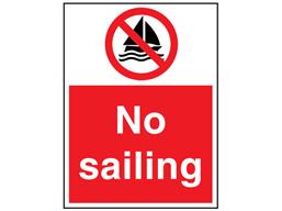 No sailing sign.