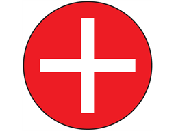 Positive symbol label.
