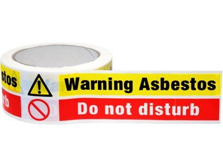 Warning Asbestos Do Not Disturb Safety Tape Awt02