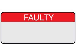 Faulty aluminium foil labels.