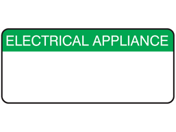 Electrical appliance equiment label