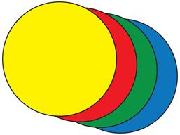 Floor marking circles.
