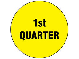 First quarter inventory date label