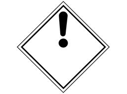 Dangerous substance (!) hazard warning diamond sign