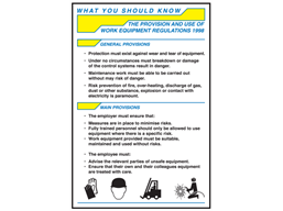 Provision and the use of work equipment guide