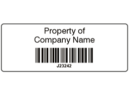 Scanmark+ barcode label (black text), 19mm x 50mm