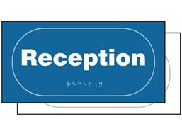 Reception sign.