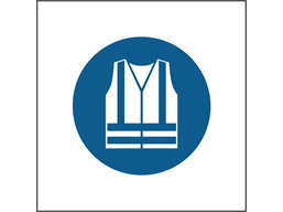High visibility clothing must be worn symbol safety sign.