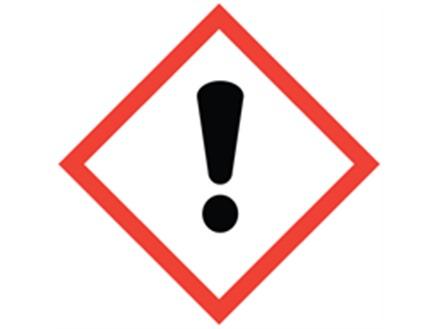 GHS harmful/irritant hazard label