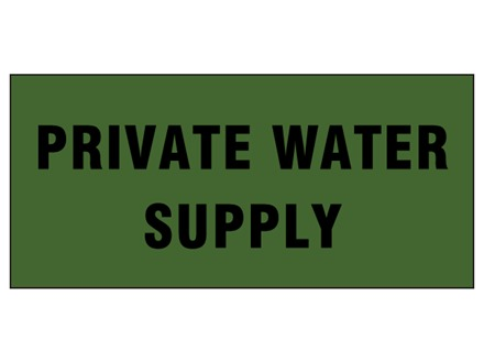 Private water supply pipeline identification tape.