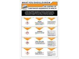 COSHH. Control of substances hazardous to health sign.