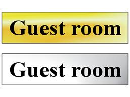 Guest room metal doorplate